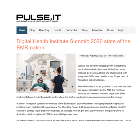 Digital Health Institute Summit: 2020 state of the EMR nation